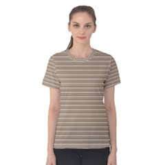 Lines pattern Women s Cotton Tee