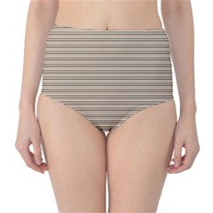 Lines pattern High-Waist Bikini Bottoms