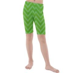 Zigzag  pattern Kids  Mid Length Swim Shorts