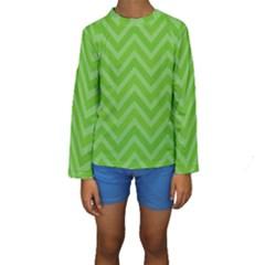 Zigzag  pattern Kids  Long Sleeve Swimwear