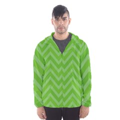 Zigzag  pattern Hooded Wind Breaker (Men)
