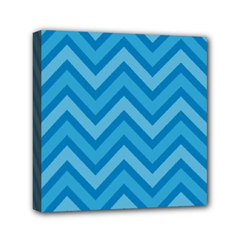 Zigzag  pattern Mini Canvas 6  x 6