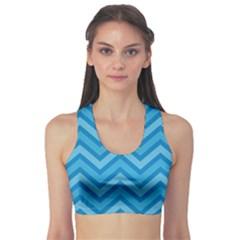 Zigzag  pattern Sports Bra