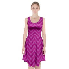 Zigzag  pattern Racerback Midi Dress