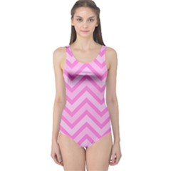 Zigzag  pattern One Piece Swimsuit