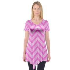 Zigzag  pattern Short Sleeve Tunic