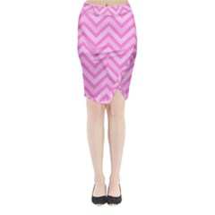 Zigzag  pattern Midi Wrap Pencil Skirt