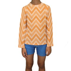 Zigzag  pattern Kids  Long Sleeve Swimwear