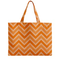 Zigzag  pattern Zipper Mini Tote Bag