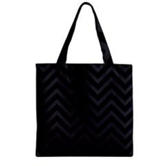 Zigzag  pattern Zipper Grocery Tote Bag