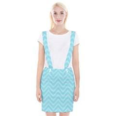 Zigzag  pattern Braces Suspender Skirt