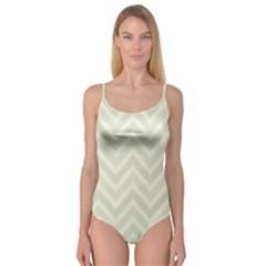 Zigzag  pattern Camisole Leotard