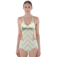 Zigzag  pattern Cut-Out One Piece Swimsuit