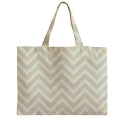 Zigzag  pattern Medium Zipper Tote Bag