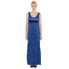 Zigzag  pattern Maxi Thigh Split Dress