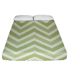 Zigzag  pattern Fitted Sheet (King Size)