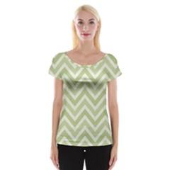 Zigzag  pattern Women s Cap Sleeve Top