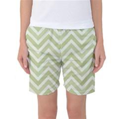 Zigzag  pattern Women s Basketball Shorts