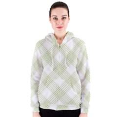 Zigzag  pattern Women s Zipper Hoodie