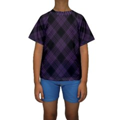 Zigzag pattern Kids  Short Sleeve Swimwear