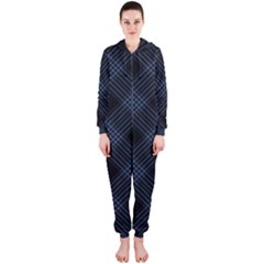 Zigzag pattern Hooded Jumpsuit (Ladies)