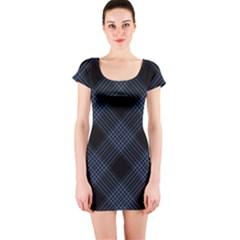 Zigzag Pattern Short Sleeve Bodycon Dress