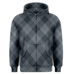 Zigzag pattern Men s Zipper Hoodie
