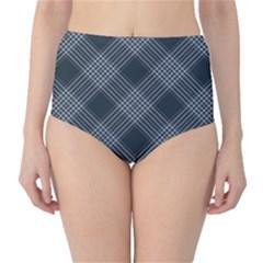 Zigzag pattern High-Waist Bikini Bottoms