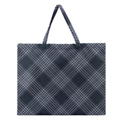 Zigzag pattern Zipper Large Tote Bag