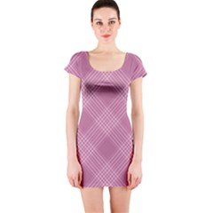 Zigzag pattern Short Sleeve Bodycon Dress