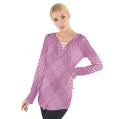 Zigzag pattern Women s Tie Up Tee