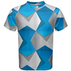 Blue White Grey Chevron Men s Cotton Tee