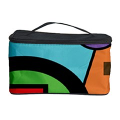 Basic Shape Circle Triangle Plaid Black Green Brown Blue Purple Cosmetic Storage Case