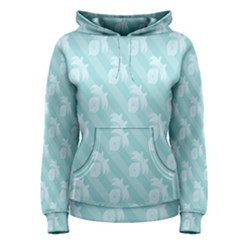 Christmas Day Ribbon Blue Women s Pullover Hoodie