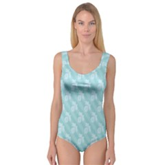 Christmas Day Ribbon Blue Princess Tank Leotard
