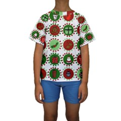 Christmas Kids  Short Sleeve Swimwear