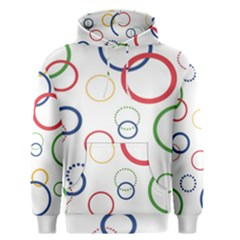 Circle Round Green Blue Red Pink Yellow Men s Pullover Hoodie