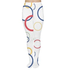 Circle Round Green Blue Red Pink Yellow Women s Tights
