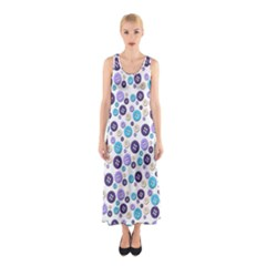 Buttons Chlotes Sleeveless Maxi Dress
