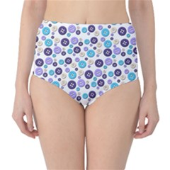 Buttons Chlotes High-Waist Bikini Bottoms