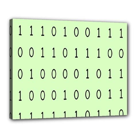 Code Number One Zero Canvas 20  x 16