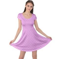 Dots Cap Sleeve Dresses