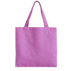 Dots Zipper Grocery Tote Bag