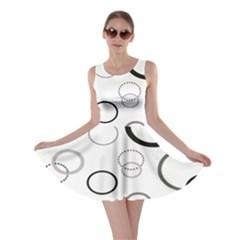 Circle Round Black Grey Skater Dress