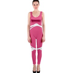 Circle White Pink OnePiece Catsuit