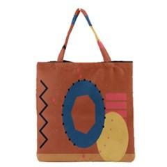 Digital Music Is Described Sound Waves Grocery Tote Bag