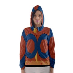 Digital Music Is Described Sound Waves Hooded Wind Breaker (Women)