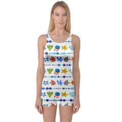 Coral Reef Fish Coral Star One Piece Boyleg Swimsuit