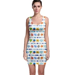 Coral Reef Fish Coral Star Sleeveless Bodycon Dress