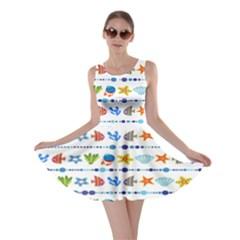 Coral Reef Fish Coral Star Skater Dress